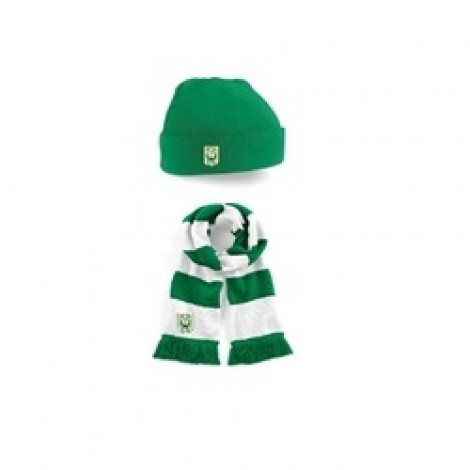 5146cdc0138 HAT AND SCARF SET WITH TRIM CELTIC AFC CREST ON BOTH - Trim Celtic ...